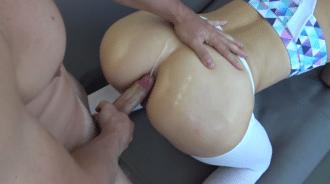 Desvirgación anal a mi novia, acabó en creampie
